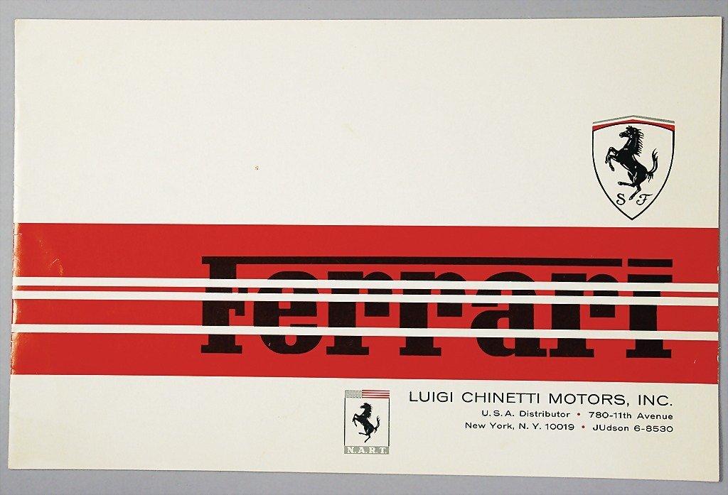 1964: FERRARI / LUIGI CHINETTI brochure, Ferrari c. 196