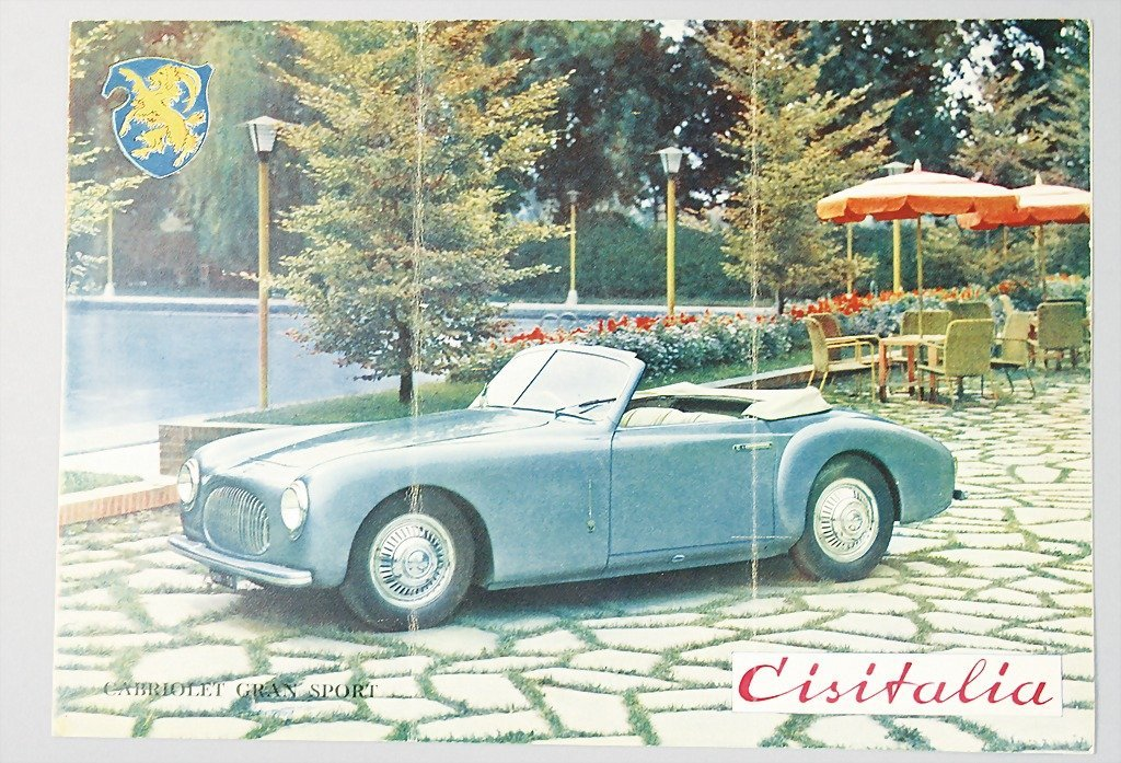 1967: CISITALIA folder with 4 pages, Cisitalia Gran Spo