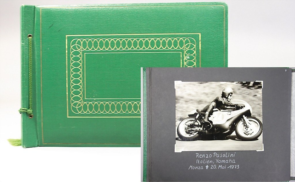 3: photo album motorbike racing from the '70s, all in a