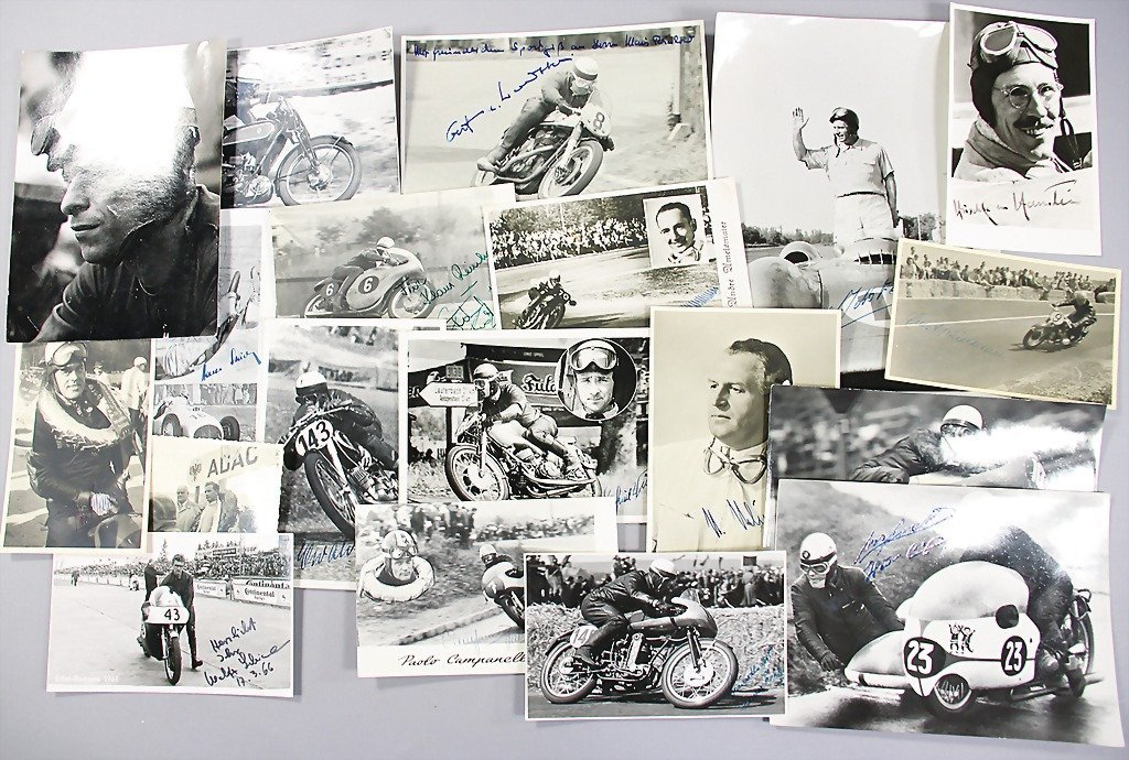 4: mixed lot of signed B/W photos, autograph cards, all