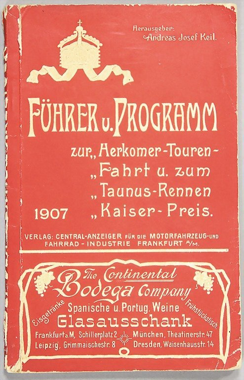 6: official gueide and programme of the Herkomer rivals