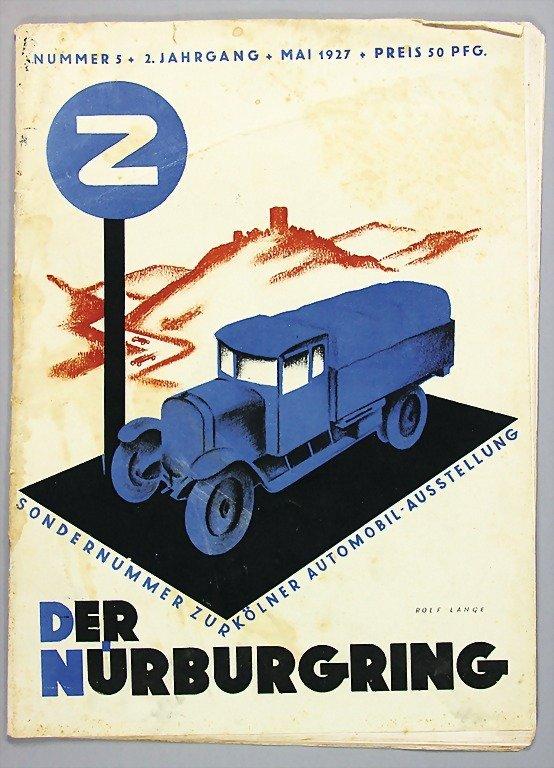 """13: magazine """"Der Nürburgring"""", year 1927, issue No. 5,"""