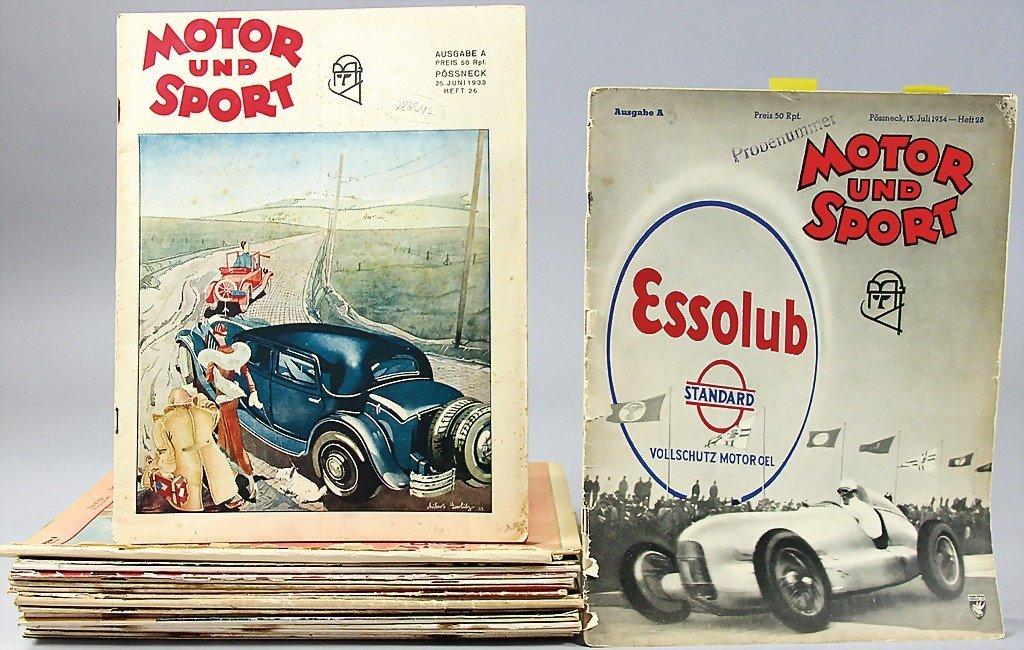 "16: magazine ""Motor & Sport"", year 1933, issue No. 1 –"