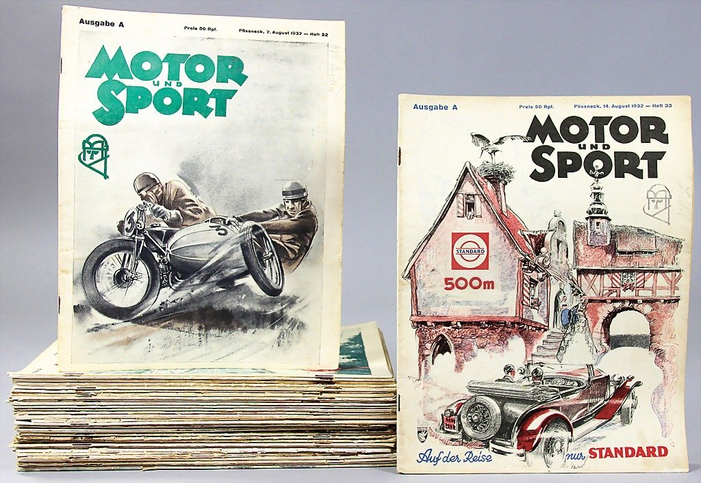 """18: magazine """"Motor and Sport"""",  year 1932, issue No. 1"""