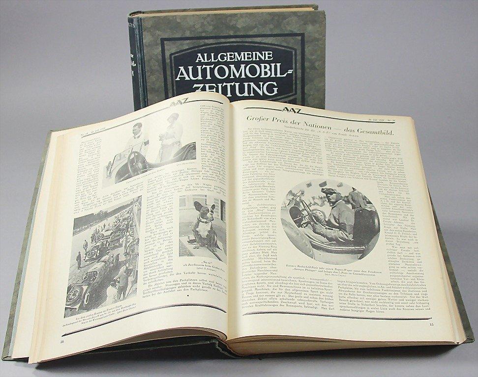 19: ALLGEMEINE AUTOMOBILZEITUNG, year 1929, bound in 2