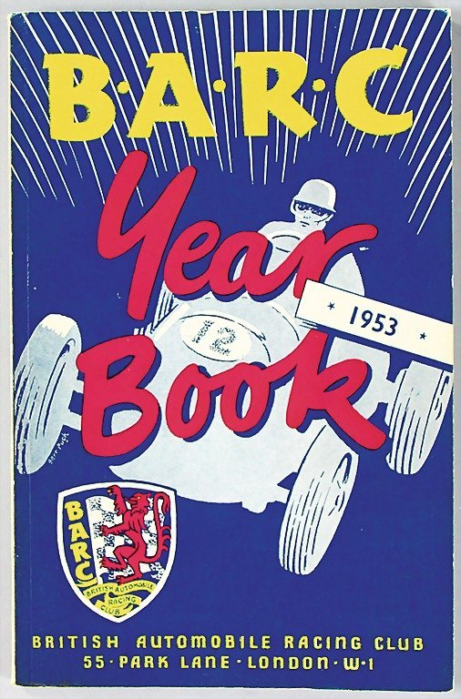 24: BRITISH AUTOMOBILE RACING CLUB, yearbook from 1953,