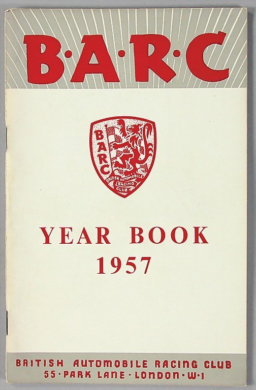 25: BRITISH AUTOMOBILE RACING CLUB, yearbook 1957 with