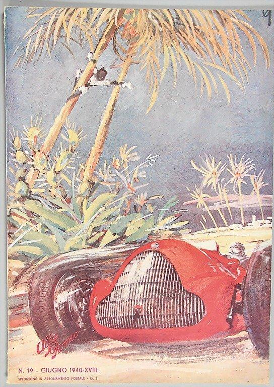 """193: magazine """"Alfa Romeo"""", year 1940, issue No. 19 wit"""