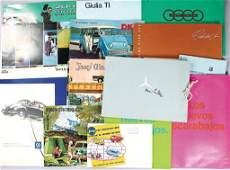 416: mixed lot of 19 pieces, brochures/sketch book, sal