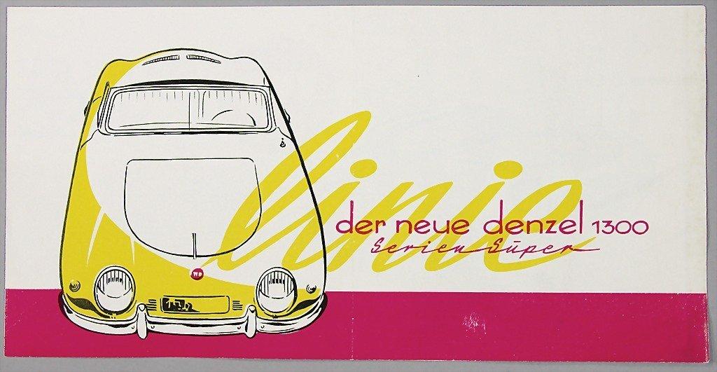 1525: Denzel 1956, folder, 4 pages, Denzel type 1300, S