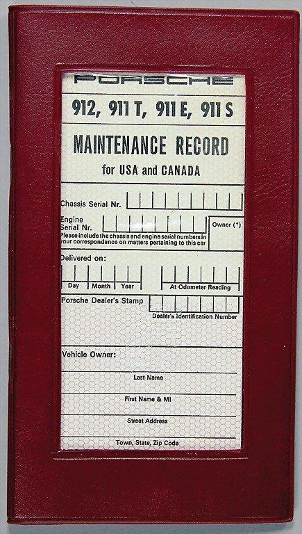 1538: PORSCHE, service book for 911 T/E/S/912, USA and