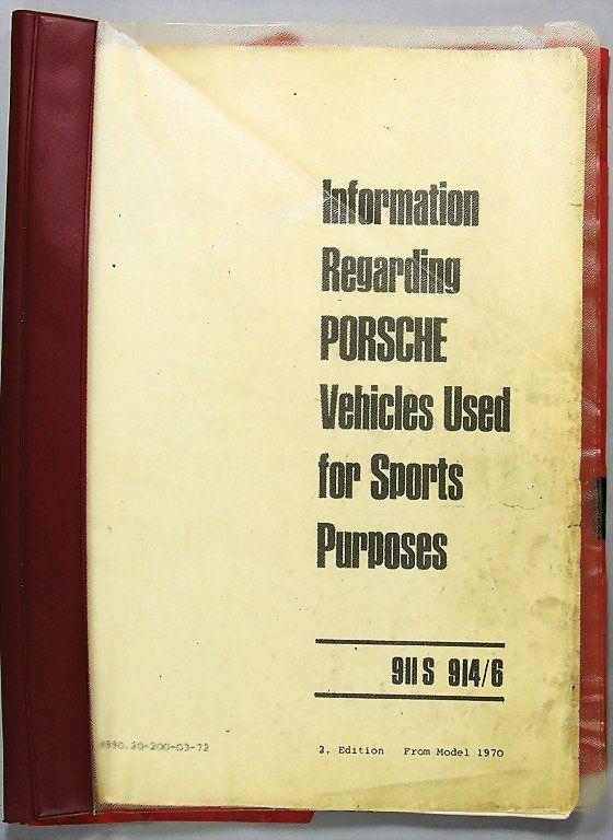 PORSCHE, information Regarding Porsche Vehicles U