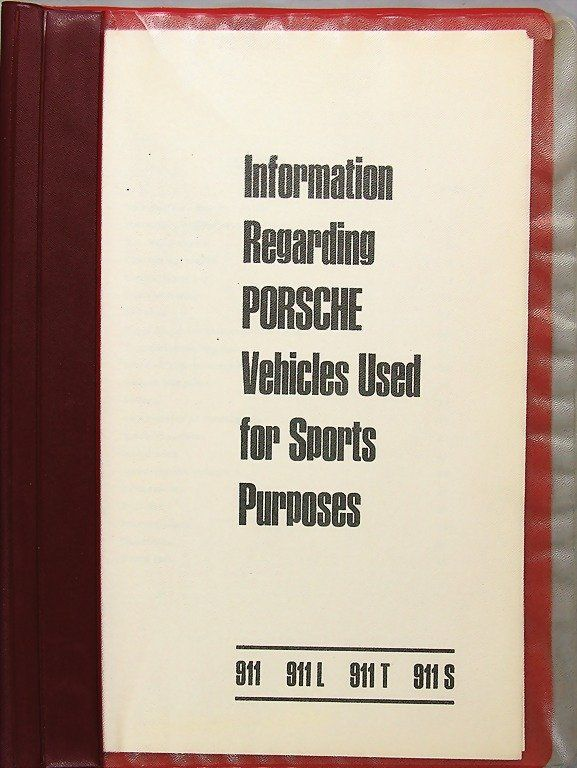 PORSCHE, file information Regarding Porsche Vehic