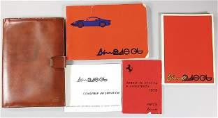 1755: FERRARI, original folder (Conolly-leather), Dino