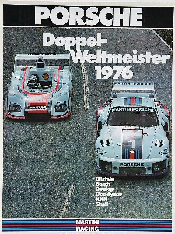 2103: PORSCHE/ MARTINI, racing poster, Porsche double w