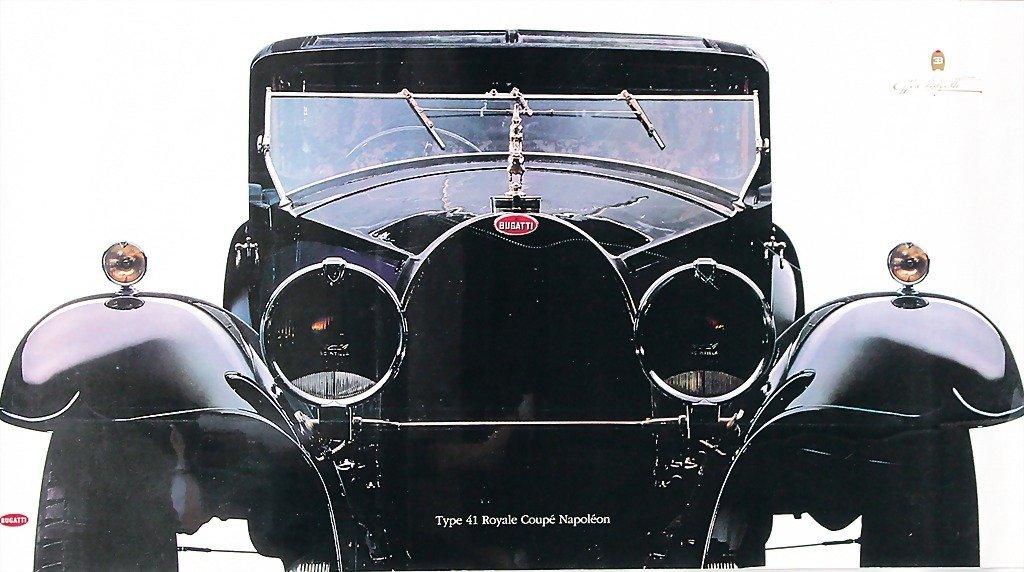 2106: 2 posters, Bugatti type 41 Royal coupé Napoleon,