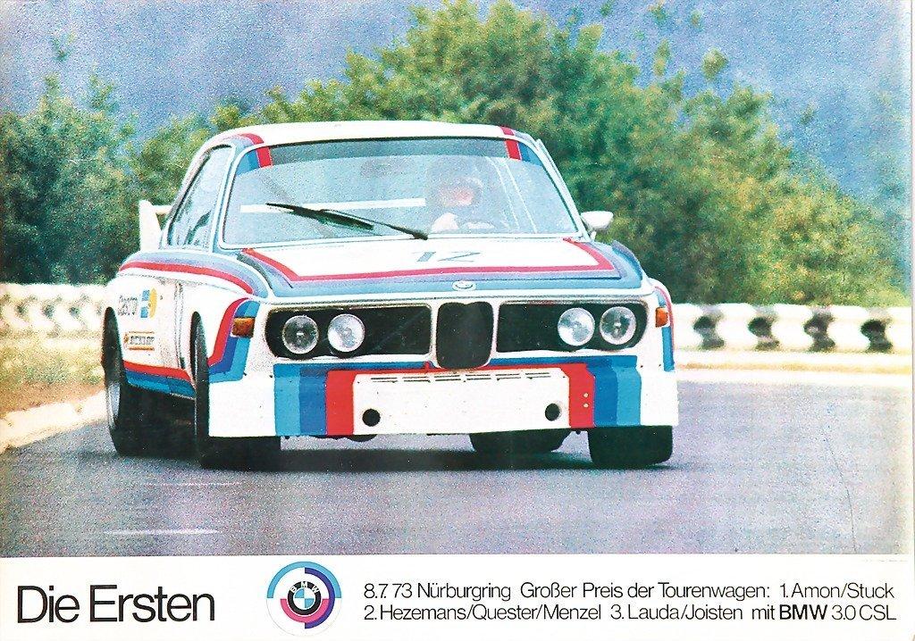 "2113: BMW, racing poster, ""BMW Motorsport- Die Ersten 1"