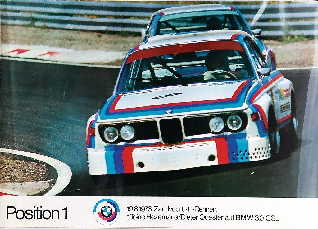 2116: BMW, racing poster, BMW motor sport Position 1, 1