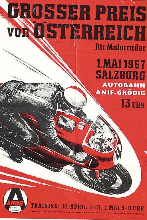 2118: GRAND PRIX OF AUSTRIA, poster 1967, GP Austria fo