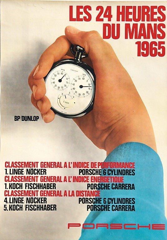 "2121: PORSCHE, racing poster ""Les 24 heures du Mans 196"