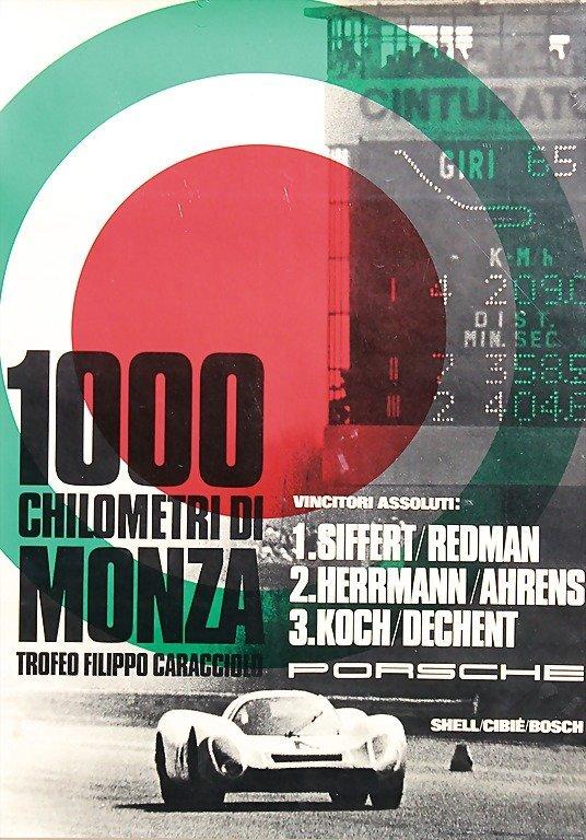 "2122: PORSCHE, racing poster ""1000 Chilometri di Monza"""