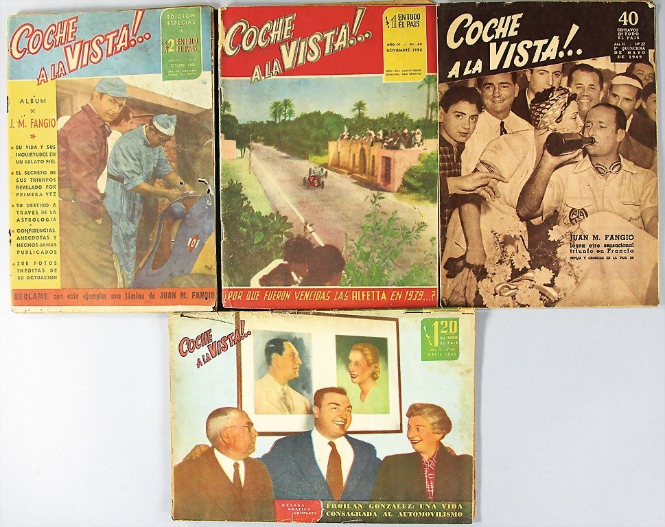 "magazine ""COCHE A LA VISTA!"", 4 issues, among them issu"