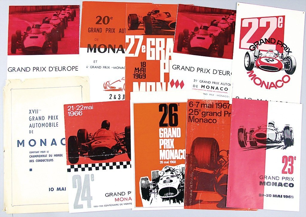 GRAND PRIX MONACO, mixed lot of 8 program information b