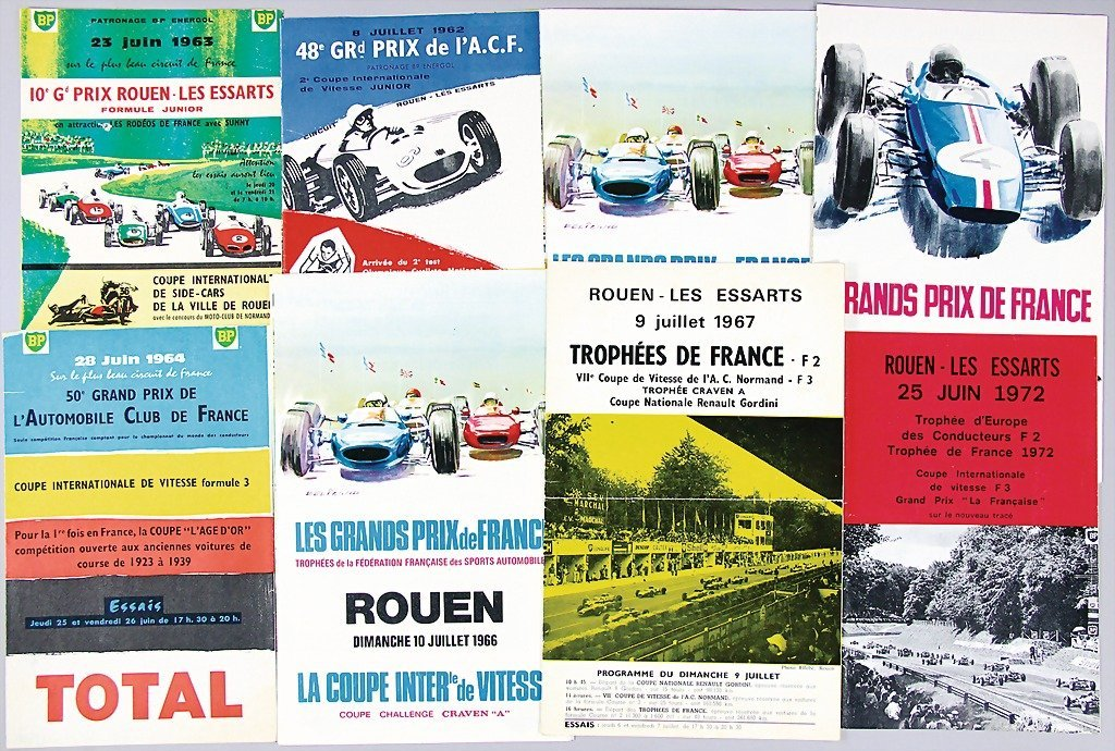 GRAND PRIX DE A.C.F, mixed lot of 8 programme informati