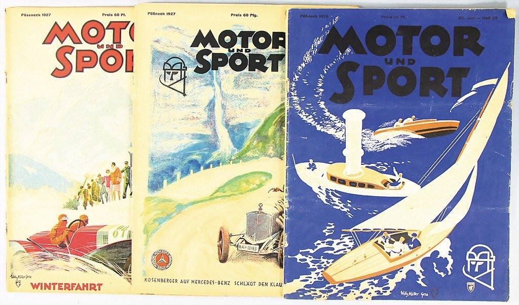 MOTOR UND SPORT, mixed lot of 3 issues, 1x No. 25, 1926