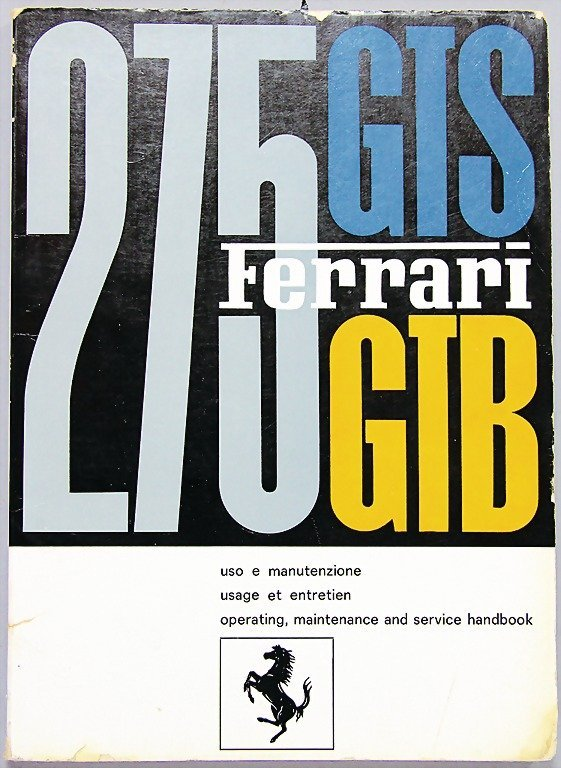 FERRARI, operating instructions, 275 GTB/ GTS, edition