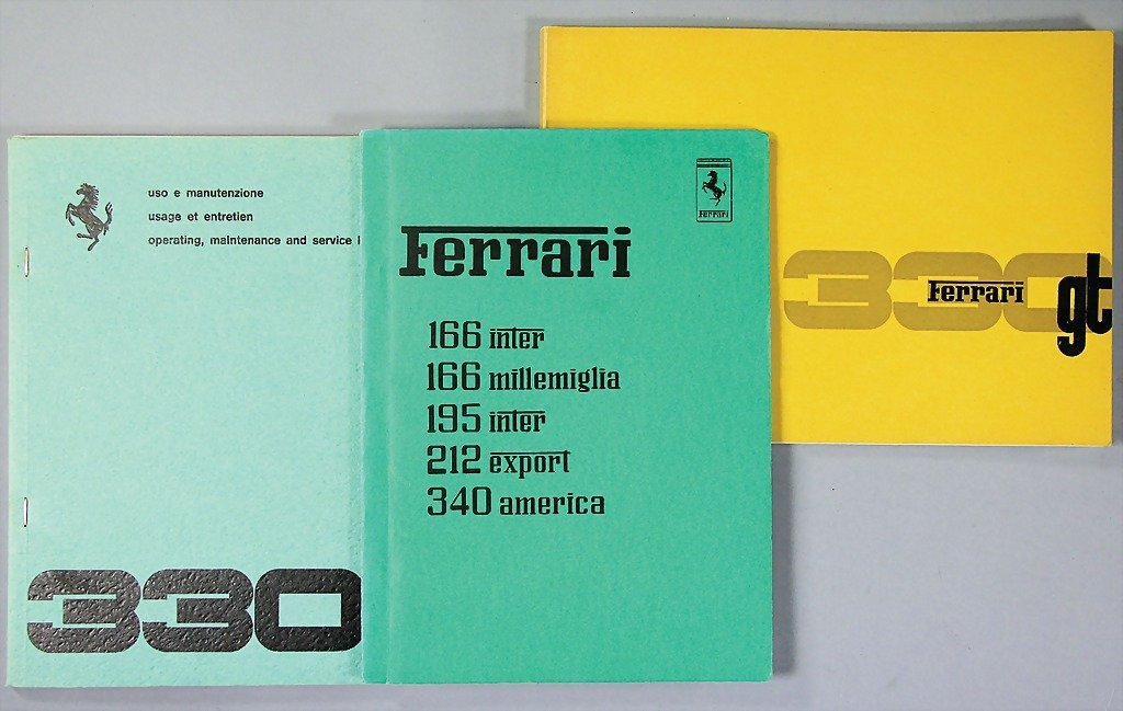 FERRARI, 3 reprints, operating instructions; among them