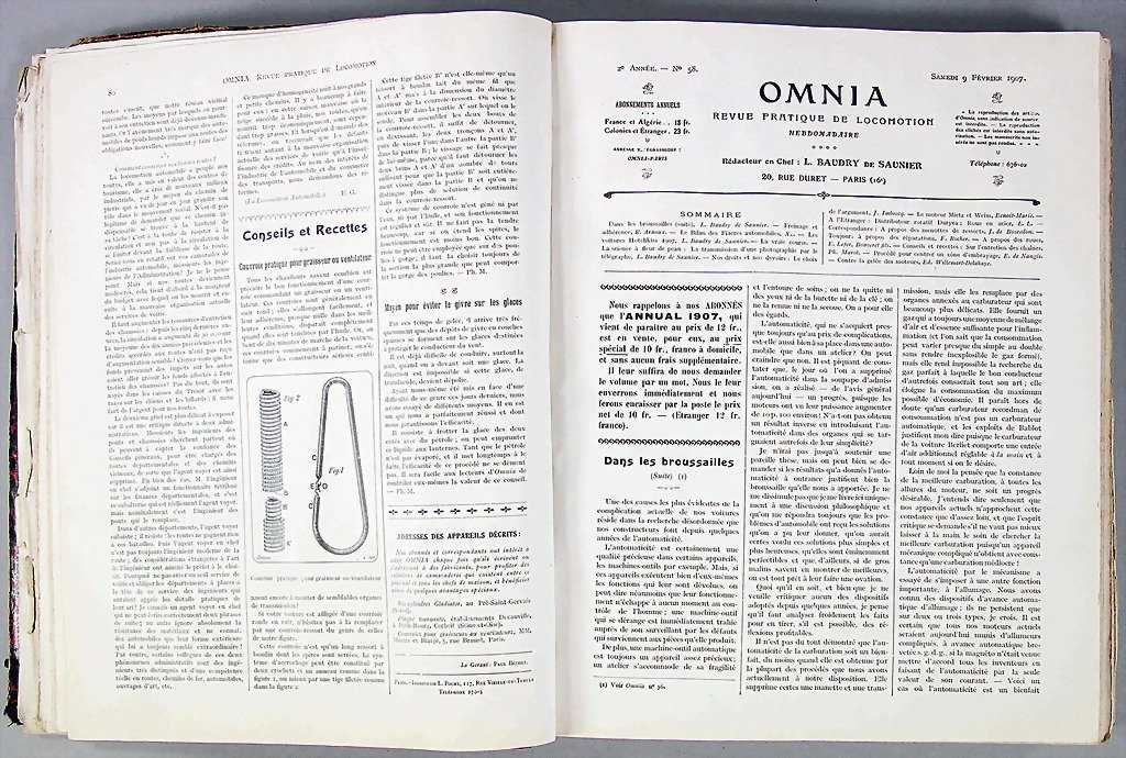 "magazine ""Omnia"", year 1907, half yearly volume January"