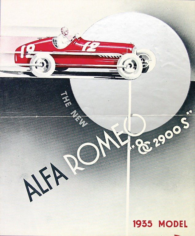 ALFA-ROMEO, 1935, folder, in English, Alfa-Romeo 8 C 29