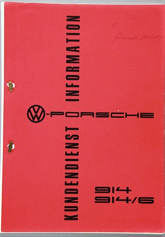 PORSCHE, customer service information 914/ 914/6, 104 p