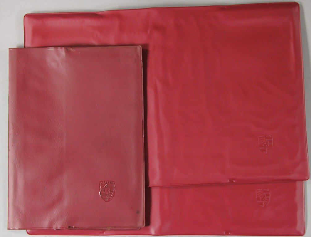 PORSCHE, mixed lot of 3 folders, '70s, partially with w