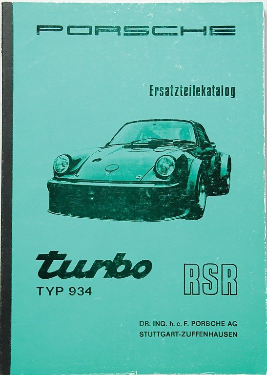 PORSCHE, 1976, catalog of replacement parts type 934 tu