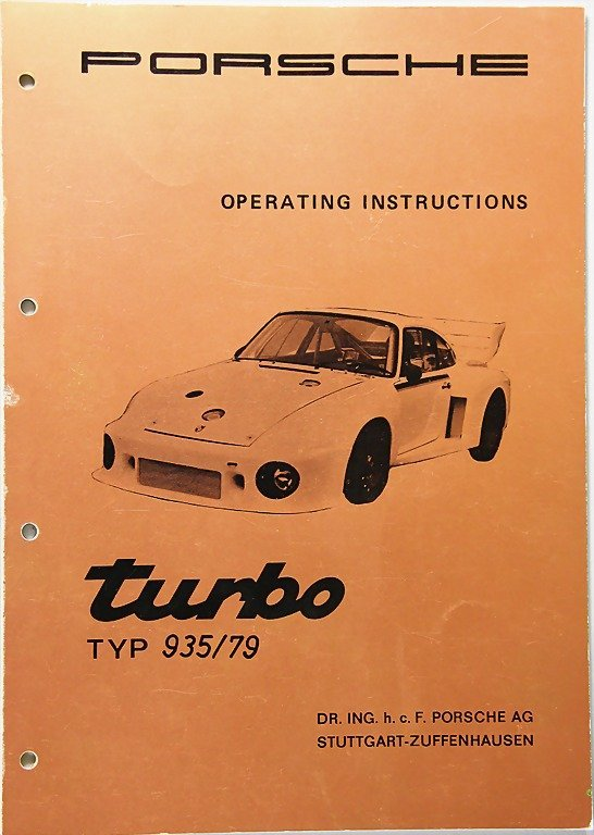 PORSCHE, January 1979, English operating instructions,