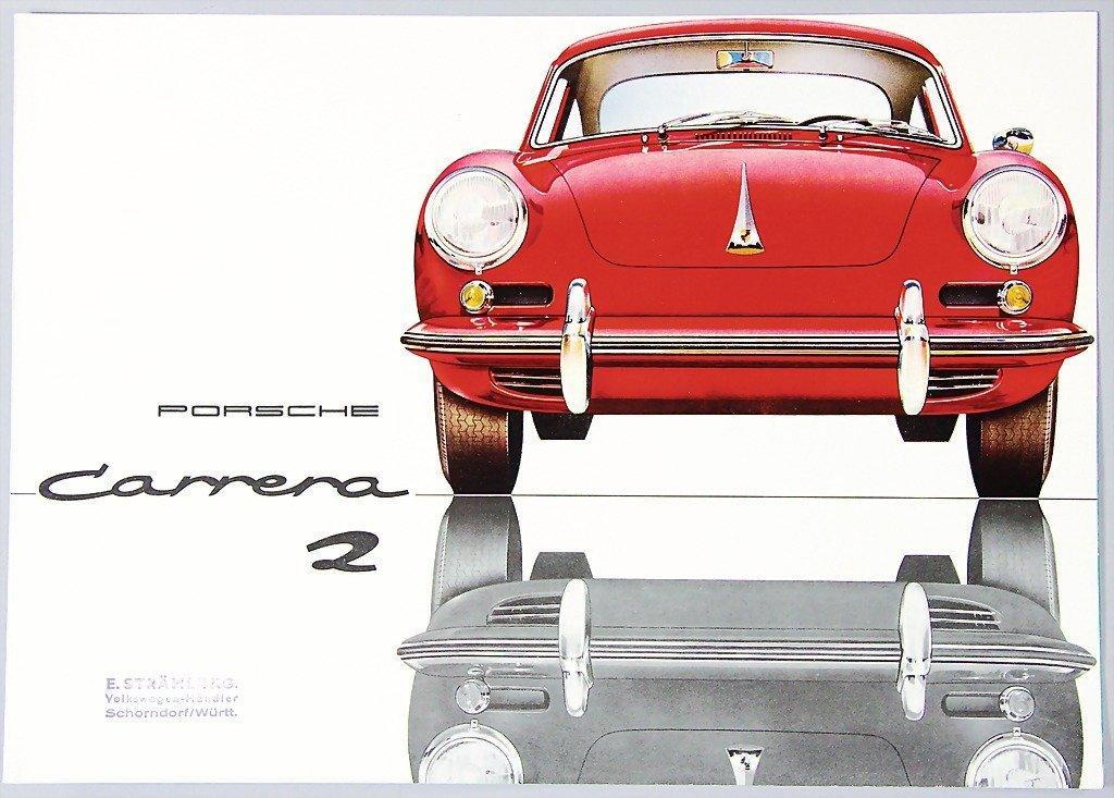 PORSCHE, 1962, brochure, Carrera 2, 4 pages, very good