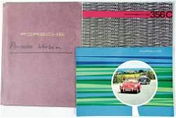 PORSCHE, mixed lot of 3 pieces, 1x sales catalog, 1962,