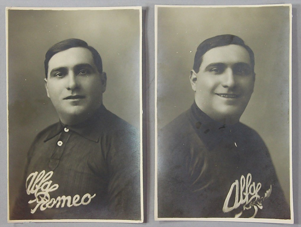 GIUSEPPE CAMPARI, c. 1924 two original photo postcards