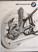 BMW, poster sectional view  suspension and drive BMW R5