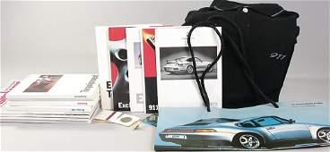 PORSCHE, large dealer mixed lot, 30 pieces, brochures/m