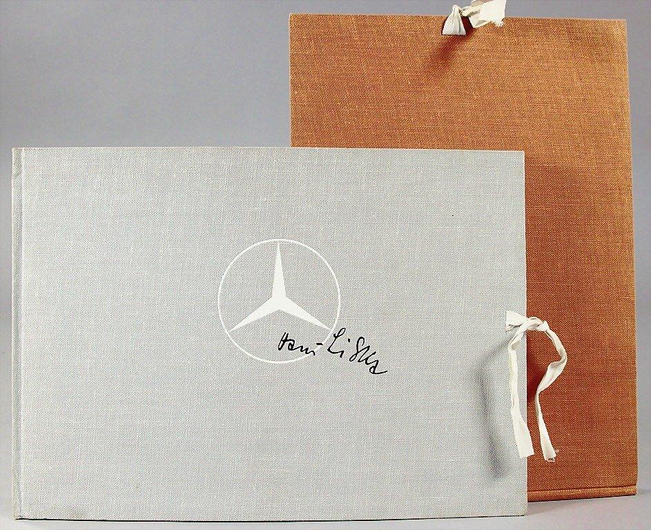 MERCEDES-BENZ/HANS LISKA, 2 Liska folders, grey/brown,