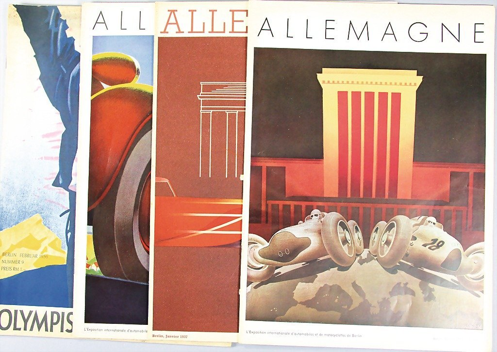 mixed lot of 4 magazines, among them 3 magazines