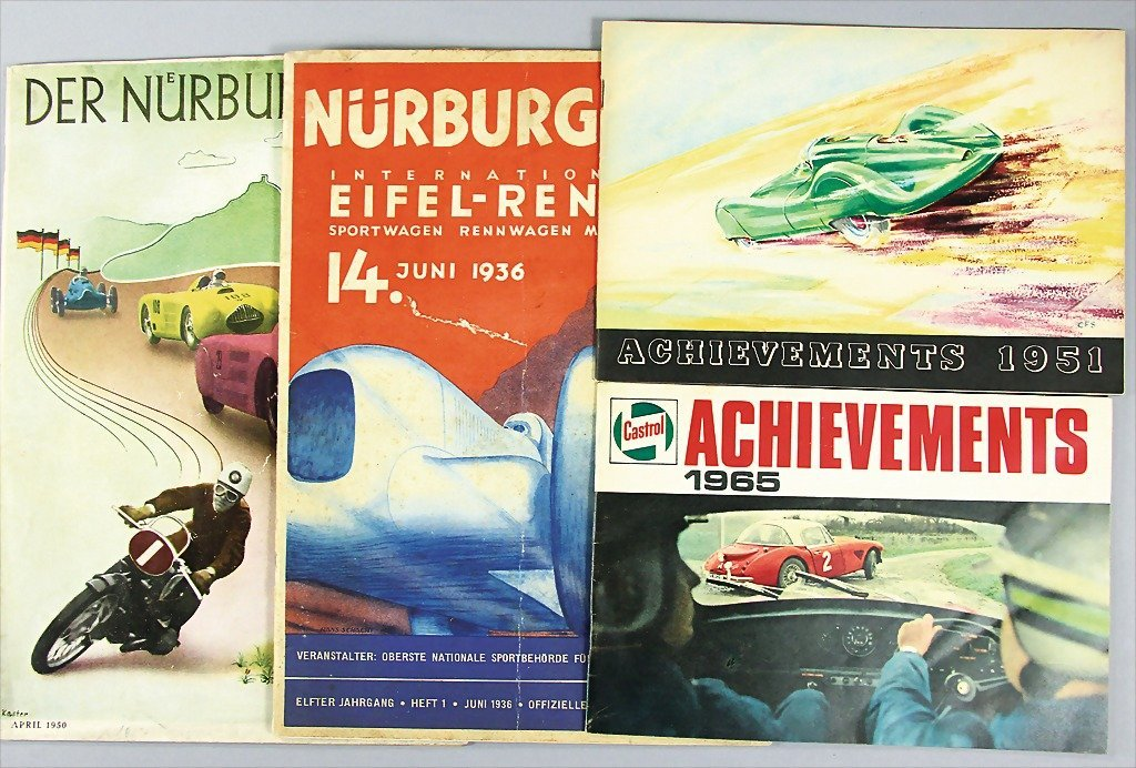 """mixed lot of 4 pieces, No. 1: magazine """"Nürburgring"""""""
