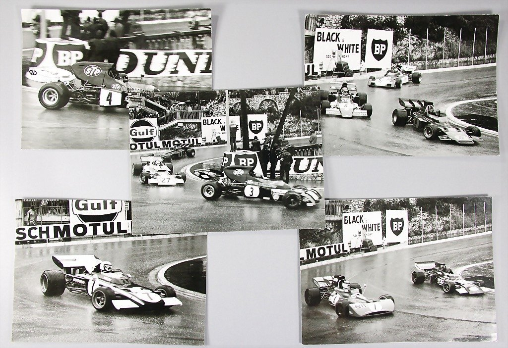 mixed lot of 5 original B/W photos Grand Prix Monaco