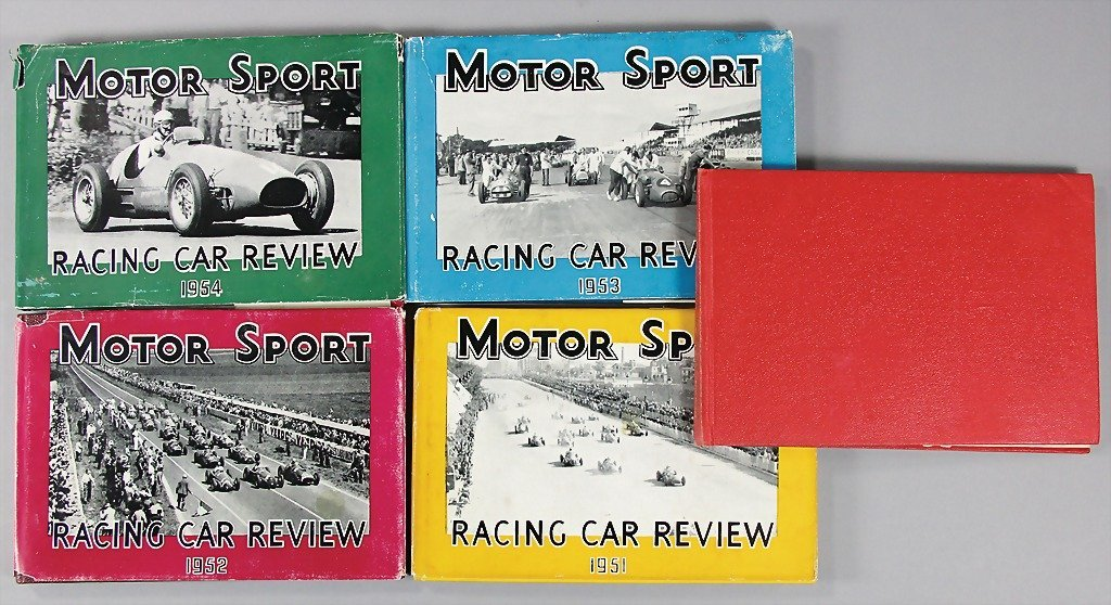 "MOTOR SPORT, mixed lot ""Racing Car Reviews"" from 1949,"