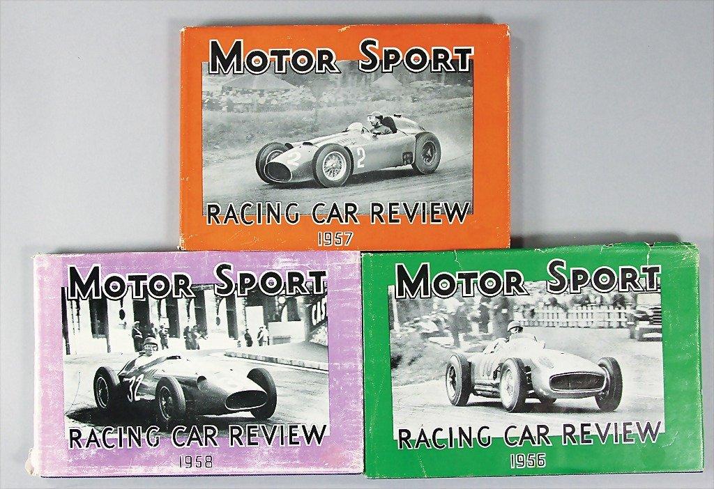 "MOTOR SPORT, mixed lot of 3 books ""Racing Car Reviews"""