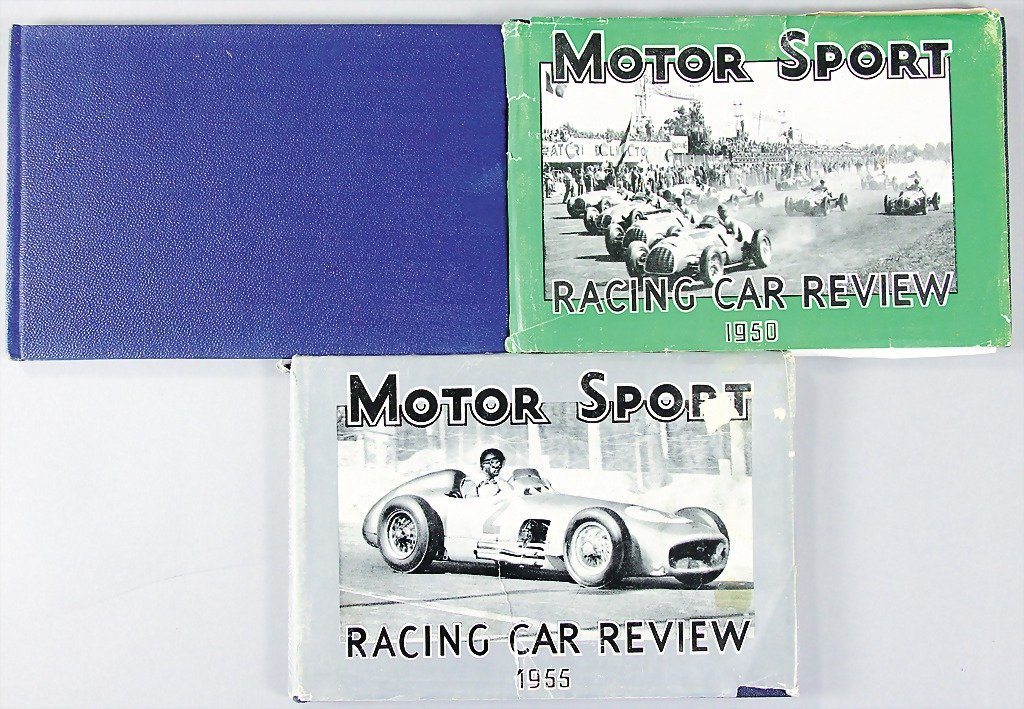 "MOTOR SPORT, mixed lot of 3 ""Racing Car Reviews"" 1947"