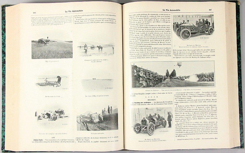 La Vie Automobile, year 1907, complete, bound, a half